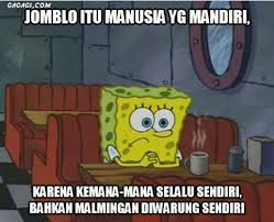 Meme Comic Indonesia Spongebob - ini jadinya jika spongebob jomblo tanpa patrick meme lucu jomblo itu