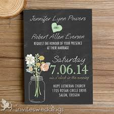 rustic invitations rustic jars chalkboard wedding invitations iwi335 wedding