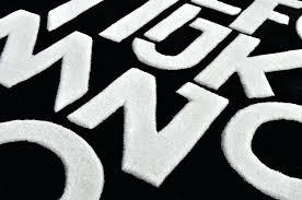 Abc Area Rug Abc Tufted Black White Area Rug Kroma Carpets Black And White
