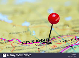 A Map Of Canada by Ottawa Pinned On A Map Of Canada Stock Photo Royalty Free Image