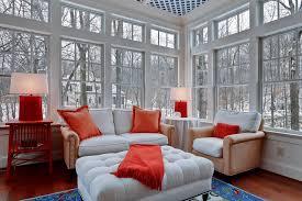 Sun Porch Curtains Sun Porch Furniture Porch Contemporary With Beige Curtains Beige