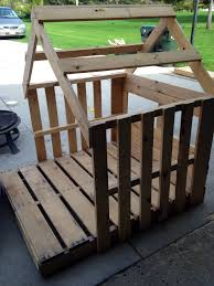 How To Build A Shed Out Of Wooden Pallets by Framed Out Playhouse From Pallets Chicken Coop Plans And Tips
