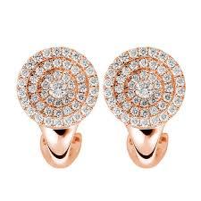 set diamond mazal diamond 0 67ct f i1 micro set diamond clip on circle earrings