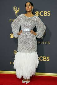 emmys 2017 metallics and feathers galore on the red carpet