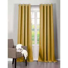 Mustard Curtain Yellow Curtains U0026 Drapes Window Treatments The Home Depot