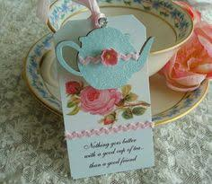 tea party favors tea party favor envelope pocket tea cup by flowerfulcreationetc