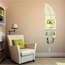 Living Room Mirror Online Get Cheap Leaf Shaped Mirror Aliexpress Com Alibaba Group