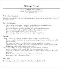 psychology graduate resume objective sample mental health