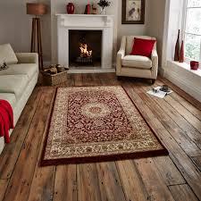 traditional regency wool look pile rug medallion pattern home