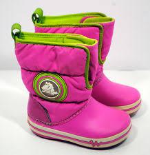 crocs light up boots crocs snow baby girls shoes ebay