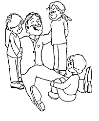 father u0027s day coloring pages fathers day dad with loving children