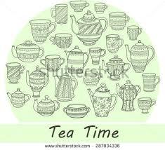seamless pattern tea stock vector 350023901