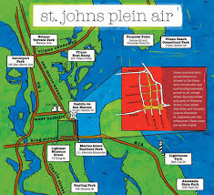 Florida Lighthouses Map by Map U0026 Locations U2014 St Johns Plein Air