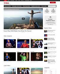 templates for video website wordpress video theme website template embedded upload youtube