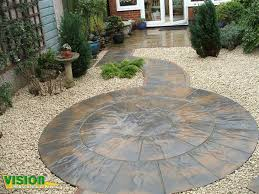 Paving Ideas For Gardens Paved Gardens Designs Ideas Garden Patio Made With Slabs