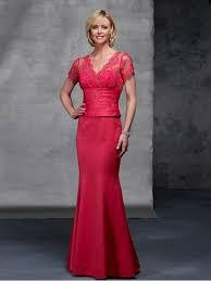 seductive mermaid red short sleeves v neck petite custom mother of
