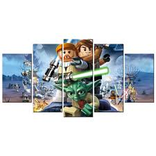 online buy wholesale lego art pictures from china lego art contemporary art lego star wars the video game poster canvas living room decor pictures prints mural