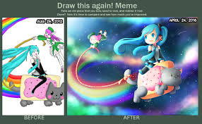 Nyan Cat Memes - draw this again riding on nyan cat by momochan 100 on deviantart