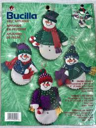 bucilla felt applique ornaments kit 84439 snow family