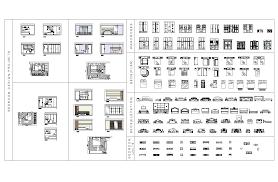 autocad home design blocks villa layout 4 views cad block