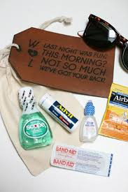 wedding gift kits wedding hangover kits canvases bag and favors