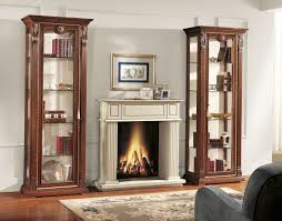 Fireplace Side Cabinets by Glamorous Livingroom With Cute Gypsum Fireplace And Double Side