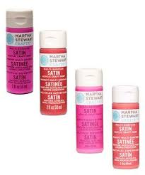 martha stewart glitter acrylic craft paint set 10 colors crafts