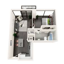 Azure Floor Plan One Two And Three Bedroom Apartments For Rent In Midtown Ga