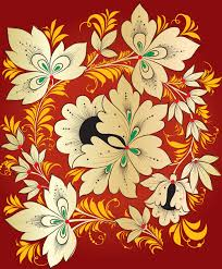 pretty russian ornaments design vector 04 vector flower vector