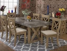 levin furniture black friday jofran boulder ridge 5pc rectangular concrete table set for