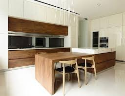 modern kitchens with islands looking modern kitchen island with wooden table 9077