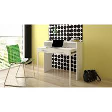 bureau couleur table bureau extensible console bureau couleur blanc brillant