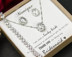 bridesmaid jewelry gifts bridesmaids gifts etsy in
