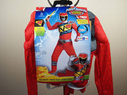 power rangers halloween costume power rangers red halloween costume size lg 10 12 dino charge