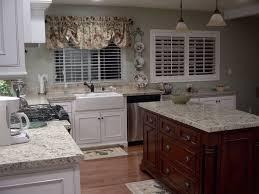 decorating wooden kitchen cabinet with santa cecilia granite