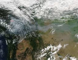 Canada Wildfire Smoke Usa by Bc Wildfire Smoke Looks Massive From Outer Space