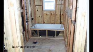 easy bathtub installation tip for new home construction and some