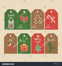 set christmas gift tags labels hand stock vector 504480925