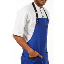 tablier bleu marine tablier de chef bleu marine à bavette