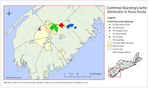 Canada Population Map by Recovery Strategy For The Blanding U0027s Turtle Nova Scotia