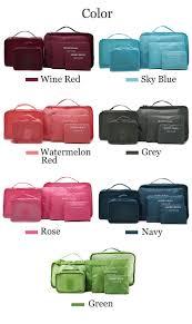 Waterproof Cushion Storage Bag by Honana Hn Tb8 6pcs Waterproof Travel Storage Bags Packing Cube