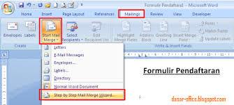 cara membuat mail merge di word 2013 cara membuat mail merge di ms word 2007 2010 2013