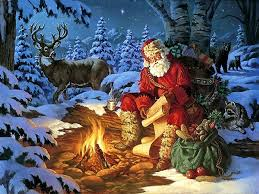 colorful forest color outdoor animals winter santa