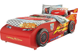 Disney Cars Bedding Set Cars Lightning Mcqueen Red 6 Pc Twin Bed With Spoiler And Trundle