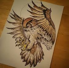 Patterned Flying Owl Drawing Illustration 3234 Best Owls Images On Owls Owl And Barn Owls