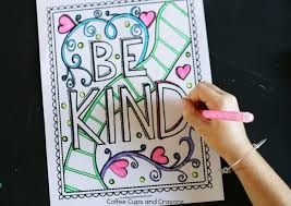 coloring pages on kindness get kids excited about doing good with a kindness coloring page