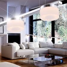 Esszimmer Beleuchtung Led 20 Watt Hänge Leuchte Chrom Ringe 5 Flammig Esszimmer