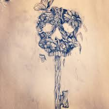 skeleton key drawing skeleton key drawing i did tattoos pinterest