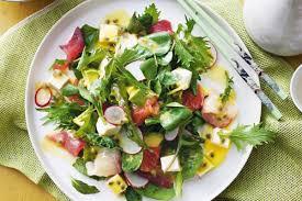 sashimi salad with wasabi and passionfruit dressing recipes