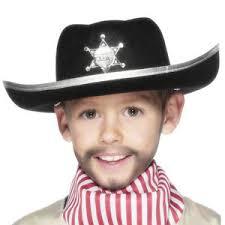 children u0027s cowgirl cowboy hat black wild west fancy dress